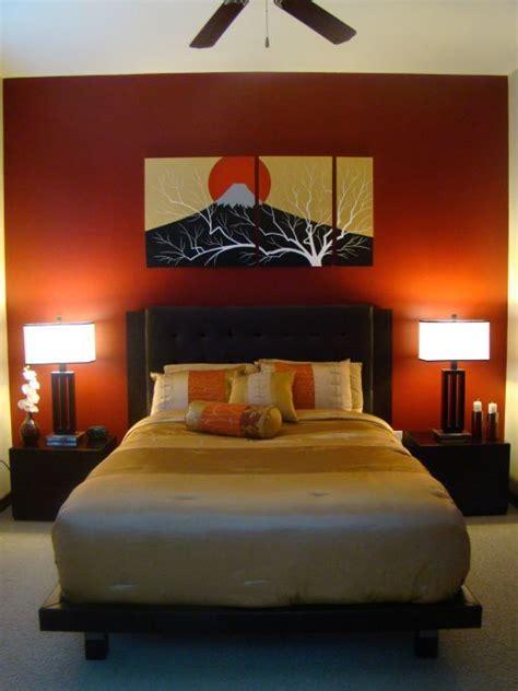 cream and orange bedroom white ceiling orange paint wall zen bedroom ideas with