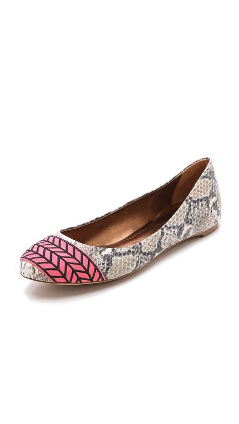 Twelfth St By Cynthia Vincent Snakeskin Shoes by Lyst Twelfth Cynthia Vincent Embroidered Flats In