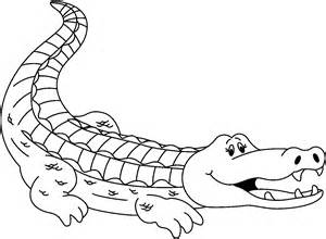 Crocodile Image Outline by Images Of An Alligator Cliparts Co