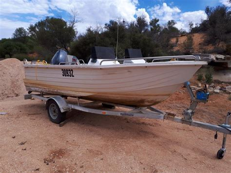 by appointment only trailer boat polycraft on trailer with 60 hp yamaha outboard