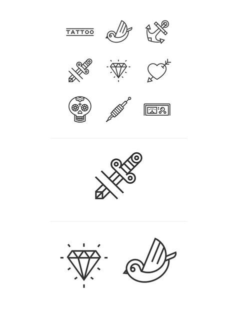iconic tattoo designs best 25 icon ideas on bullet journal