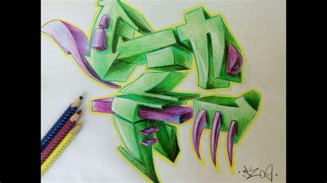 ein  graffiti buchstaben zeichnen   draw