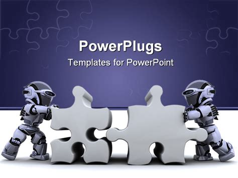 ppt templates for robotics free download 3d render of a robot solving jigsaw puzzle powerpoint