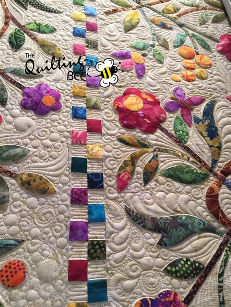 quot nemishing quot freehand filler quilt top by nicholson
