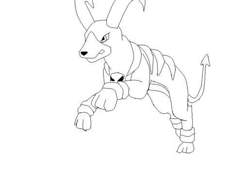 pokemon coloring pages houndoom houndoom lineart by flippyfangirl666 on deviantart