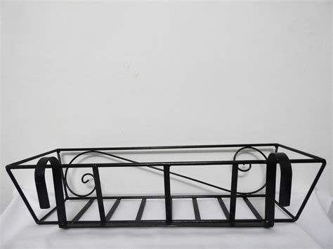 Planters For Wrought Iron Railings by Wrought Iron Railing Planter With Big S Pattern Grow And Glow Gardens