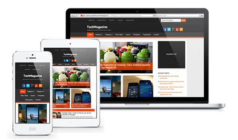 Responsive Design Mockup Online | introducing techmagazine mobile responsive genesis child