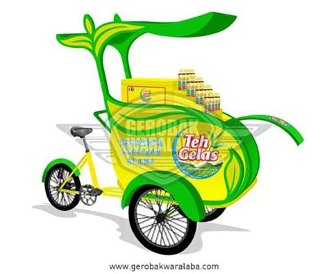 desain gerobak sepeda motor desain gerobak sepeda gerobak sepeda unik teh gelas
