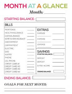 month at a glance calendar template month at a glance budget sheet calendar template 2016
