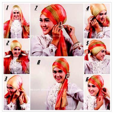 gambar tutorial hijab formal contoh tutorial hijab pashmina acara formal terbaru