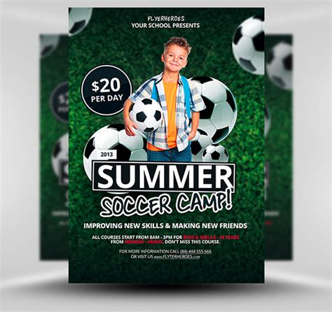 free summer soccer c flyer template