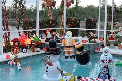 christmas pool party decoration ideas