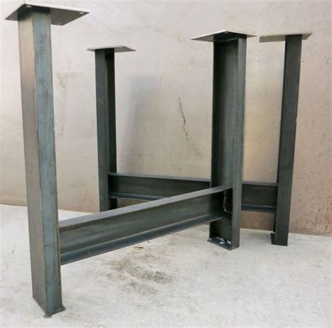 metal desk legs metal table legs set of 2 c channel c4x5 4 legs metals and tables