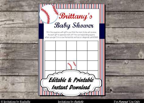 baseball baby shower bingo cards digital printable file