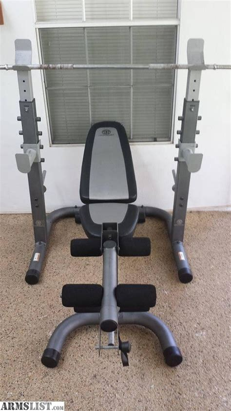 golds gym weight benches armslist for sale trade golds gym platinum weight bench