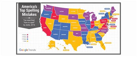 top misspelled words by state google reveals the top misspelled word in every state