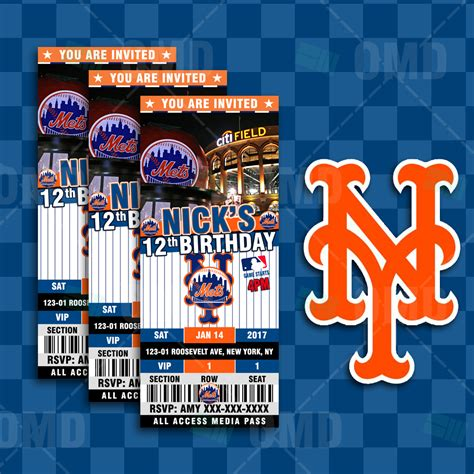 york mets baseball ultimate party package sports invites