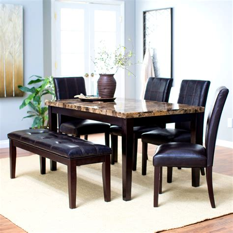 Extendable Dining Room Table With 6 Chairs Cheap Dining Table Set For 6