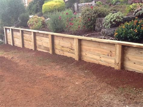 How To Build A Treated Pine Sleeper Retaining Wall by Retaining Walls Garden Effects Landscaping Mornington