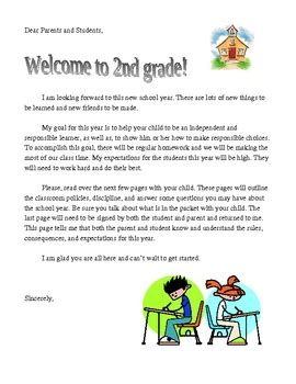 Parent Letter Beginning School Year Day Of School Letter To Parents Free By Teaching