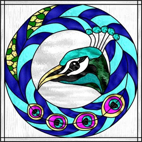 Peacock Park Home Decor by Glass Eye 2000 Stained Glass Software Design Of The Month