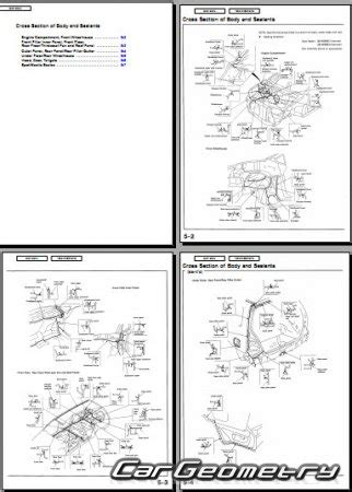 размеры honda odyssey 1995 1998 body repair manual