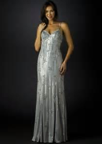 sean collection evening dress 70285 silver