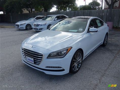 2015 casablanca white hyundai genesis 5 0 sedan 97229095