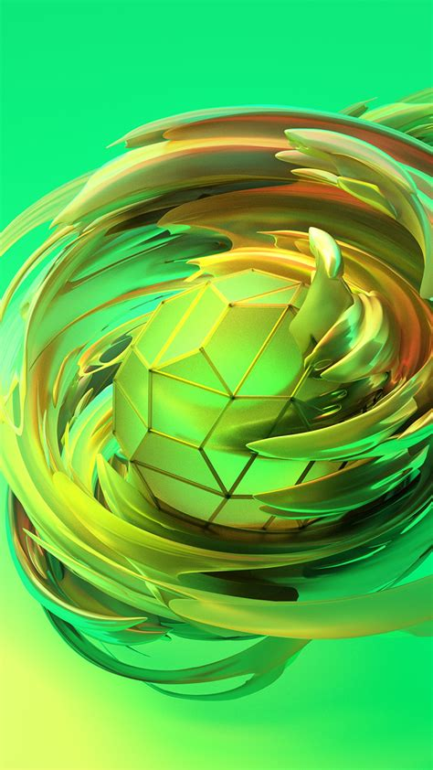 wallpaper apple dreams  sphere green hd abstract