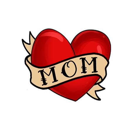 i love mom tattoo i temporary set of 4 i