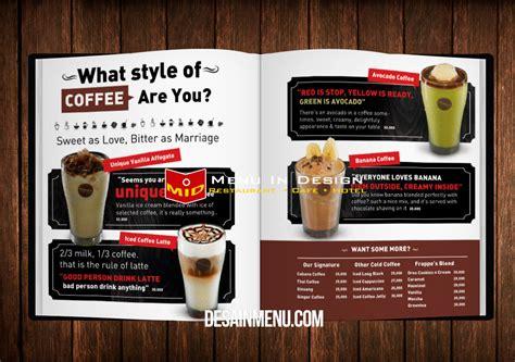 membuat desain daftar menu buku menu cafe