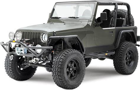 armored jeep wrangler smittybilt 76631 src side armor in textured black for 87