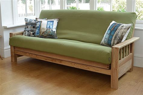 solid sofa beds 3 seater futon sofa bed in solid wood oak futon company
