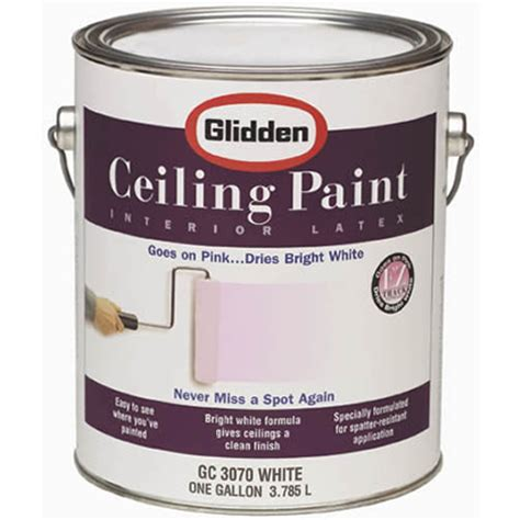 ceiling paint that goes on pink glidden capps home building center