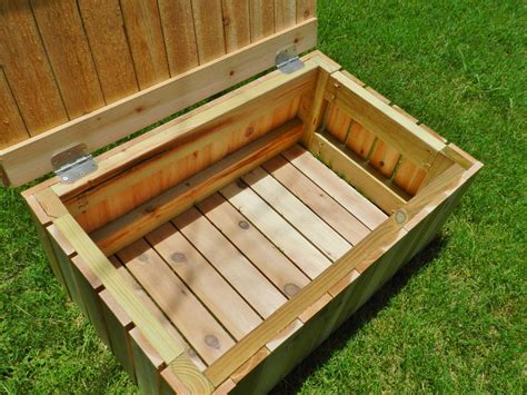 build a wooden storage bench outdoor wood storage bench plans