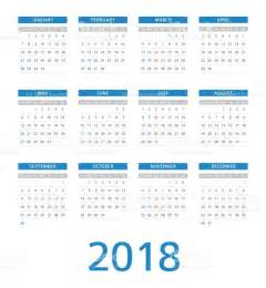 calendario 2018 domingo el lunes illustracion libre de