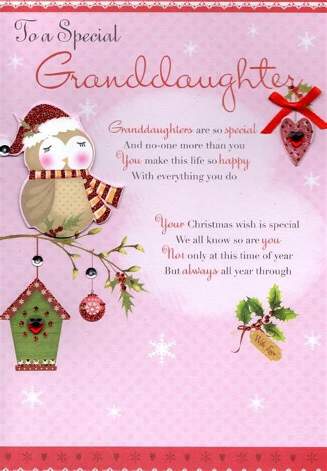 printable christmas cards for granddaughter to a special granddaughter christmas greeting card cards
