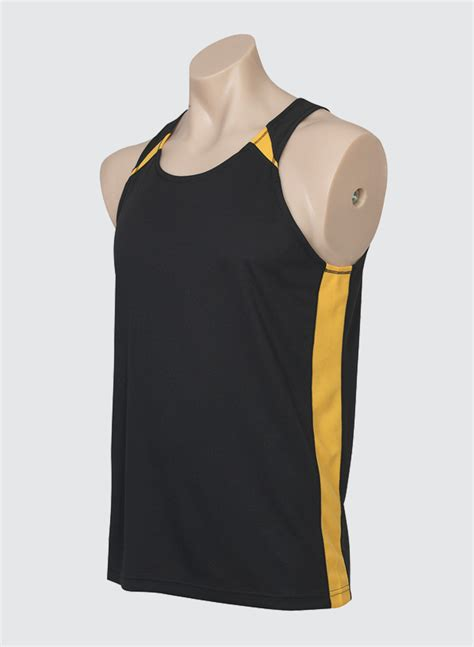 Baju Singlet Golds Big Blue Yellow mv903 mens splice singlet business image