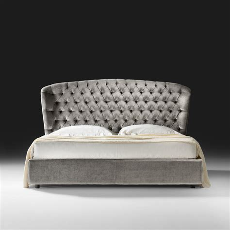 luxus bett italian designer velvet button upholstered luxury bed