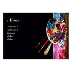 artist business cards exles colour palette 2 painter artist materials business