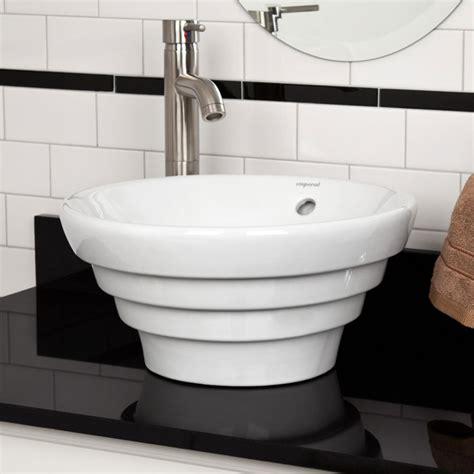 White Vessel Bathroom Sink Valentino Porcelain Vessel Sink