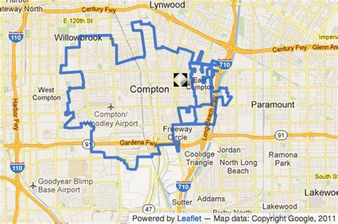 compton map map shows where two people were wounded in a deputy