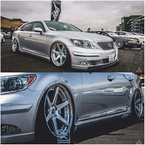 bagged ls460 bagged lexus ls460 on work zeist st1 wheels cars trucks