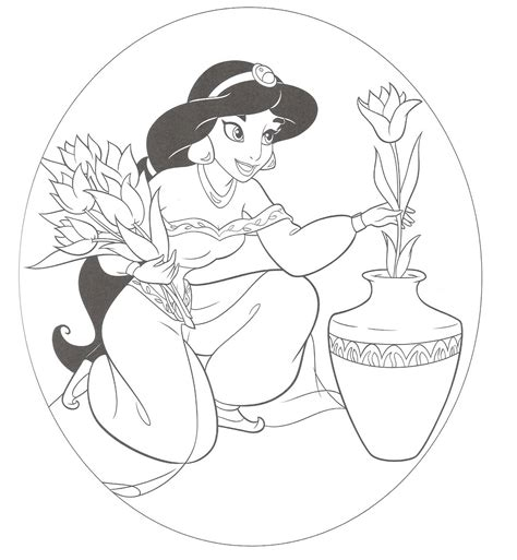 free coloring pages of princess jasmine free printable jasmine coloring pages for kids best