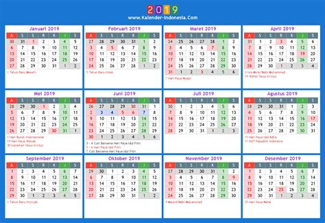 Kalender 2018 And 2019 Kalender Indonesia 2019