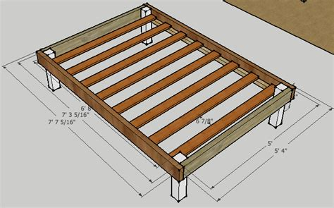 Handmade Bed Frame Plans - diy bed frame plans woodguides
