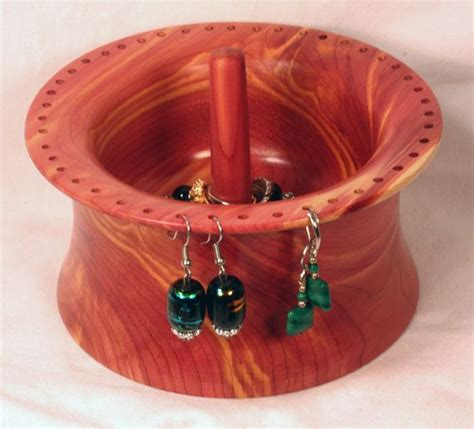 Handmade Ring Holder - handmade cedar wood earring bowl and ring holder by