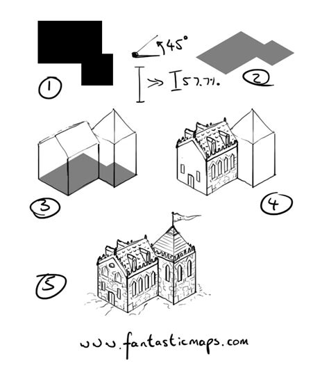 draw house map how to draw an isometric house fantastic maps
