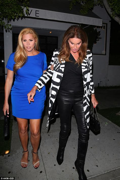 Caitlyn jenner goes for dinner with friend candis cayne in monochrome