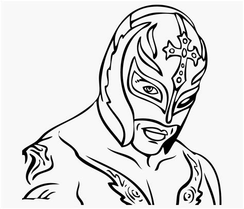 free coloring pages of rey mysterio draw